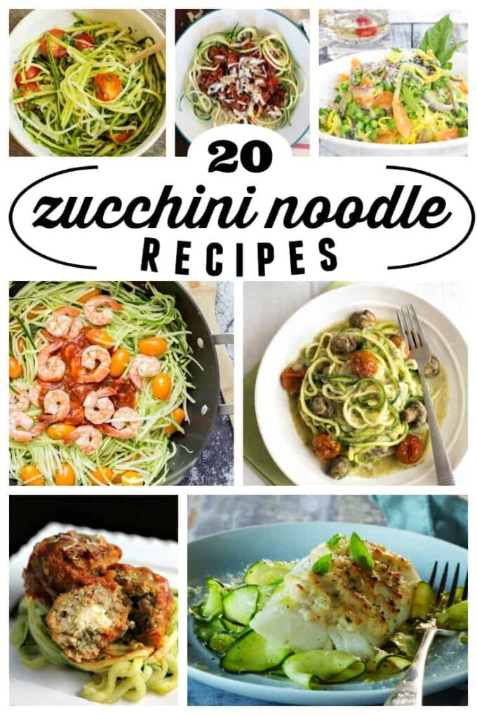 "20 Fresh & Healthy Zucchini Noodle ""Zoodle"" Recipes"