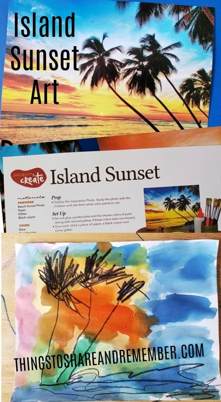 Experience Early Learning Preschool Curriculum Summer theme Island Sunset Art
