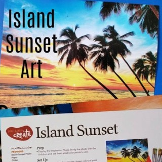 Island Sunset Art