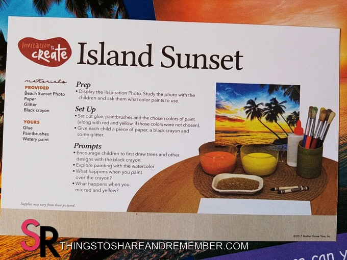 Invitation to Create Island Sunset