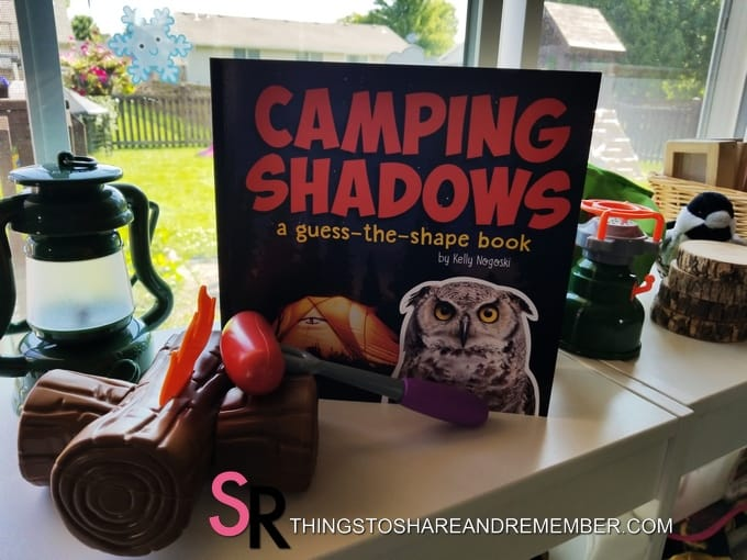 camping shadows book and camping toys
