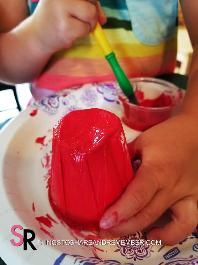 painting cups red