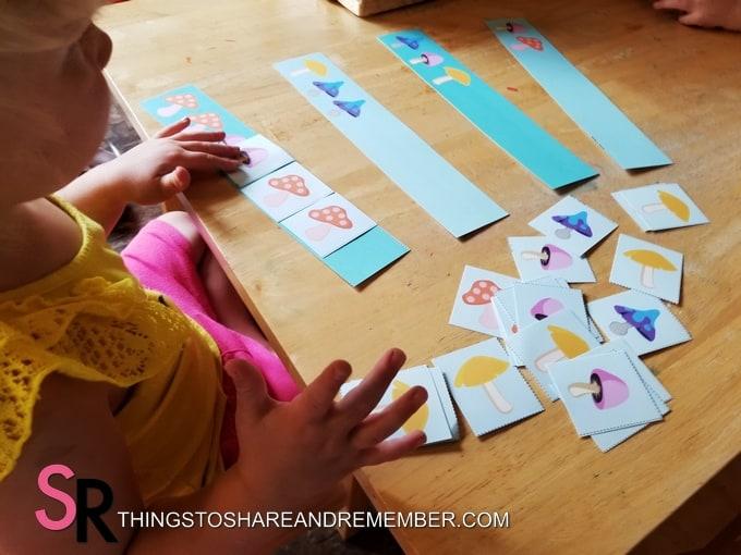 Mushroom pattern cards