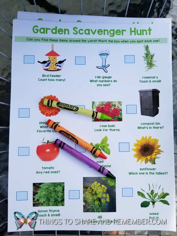 garden scavenger hunt