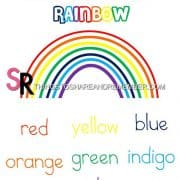 colors of the rainbow printable poster