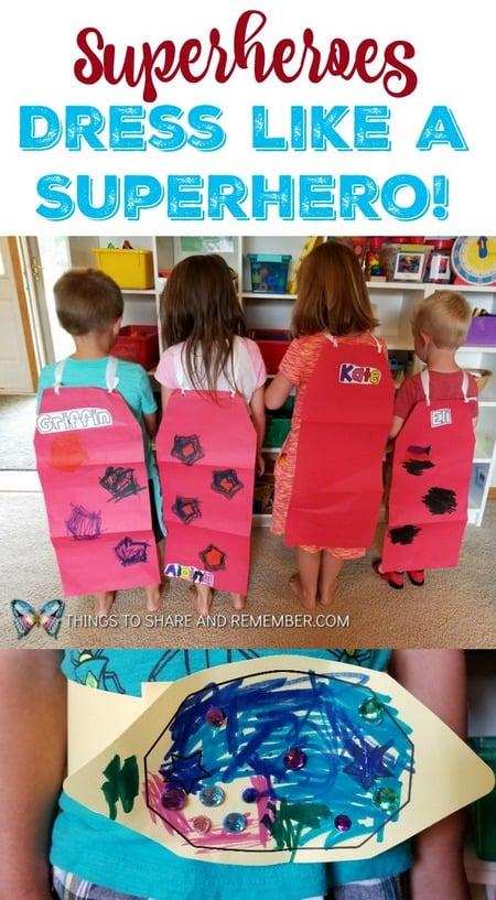Dress like a superhero Superheros Mother Goose Time preschool theme