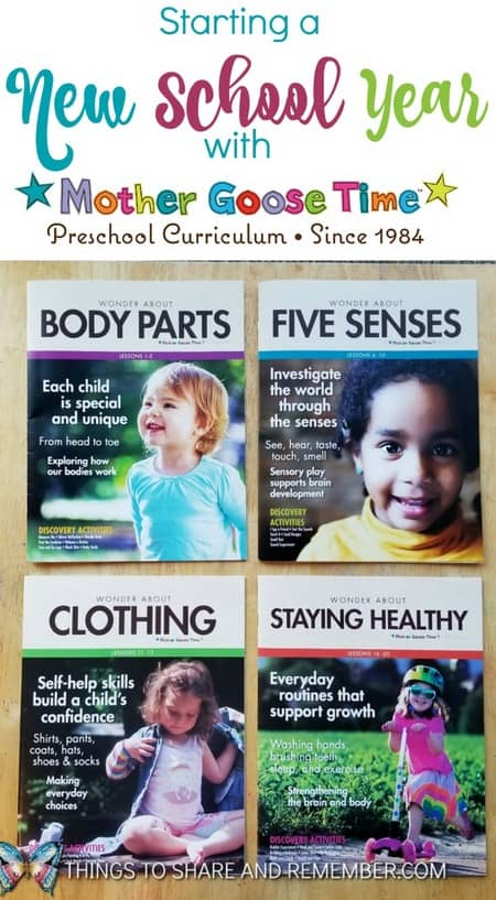Starting a New School Year with Mother Goose Time preschool curriculum #MGTblogger