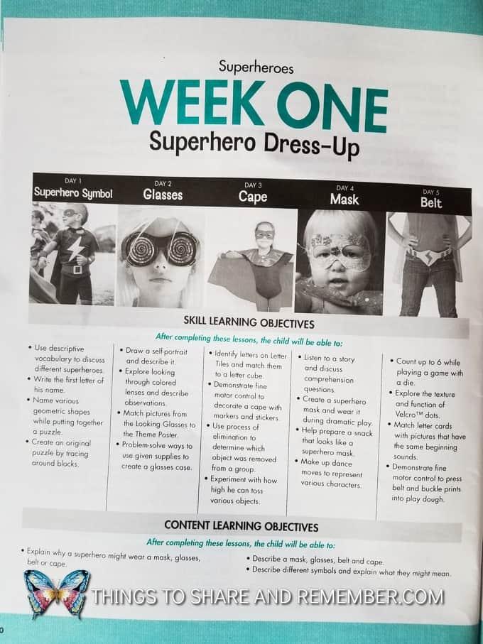 week one superhero dress up