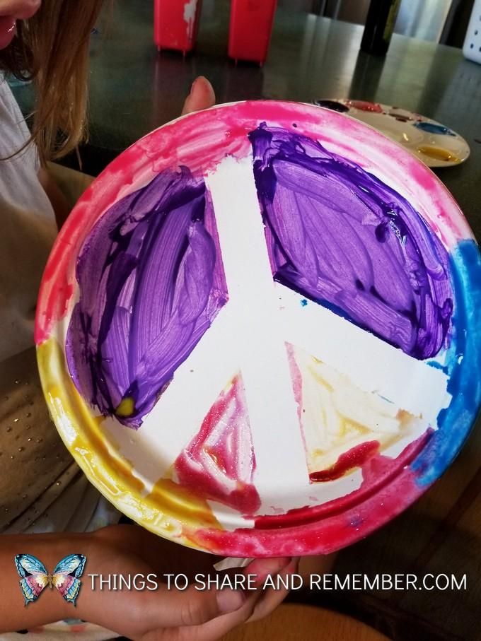 paper plate peace symbols