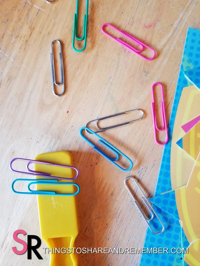 magnetic wand and paper clips