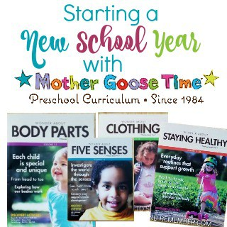 Starting a New School Year with Mother Goose Time