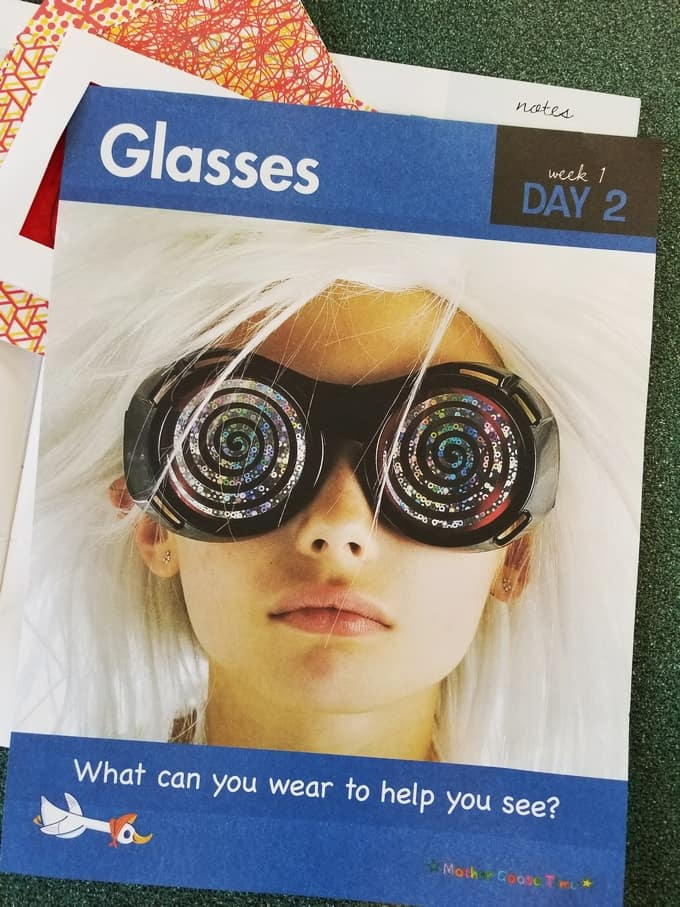 glasses daily topic poster Mother Goose Time
