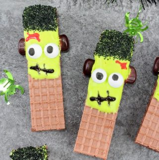 Frankenstein Wafer Cookie Treats