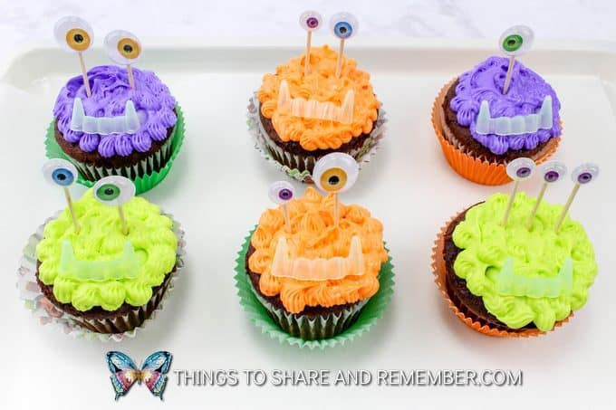 Not So Scary Halloween Monster Cupcakes