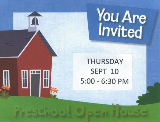 preschool open house invitation