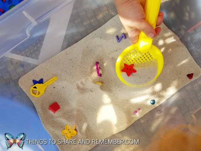 Sand Search and Find Sensory Play
