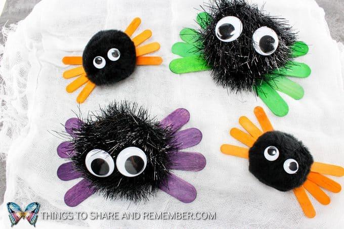 Fuzzy Halloween Spiders