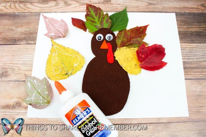 Fall Thanksgiving Leaf Turkey