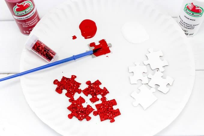 painting puzzle pieces