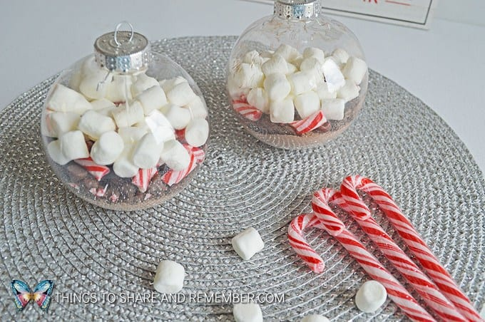 Share and Remember Blog - Hot Chocolate Ornaments -Fun Kids Craft Handmade Holiday Gift Idea