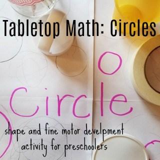 Tabletop Math: Circles