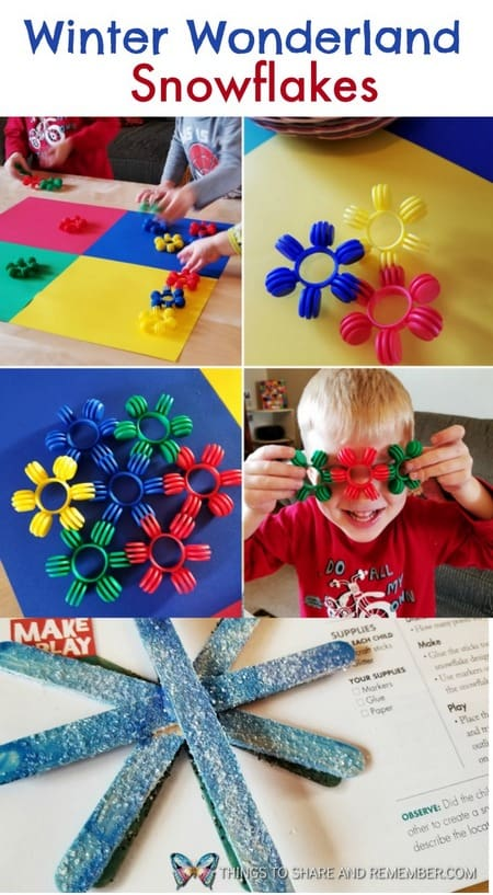 Winter Wonderland Snowflakes preschool activities #MGTblogger