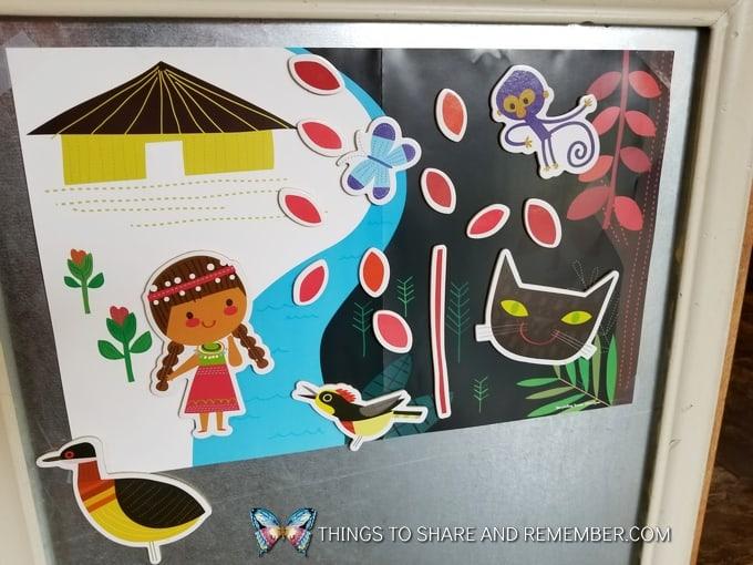 Chimidyue book - rainforest theme storytelling set
