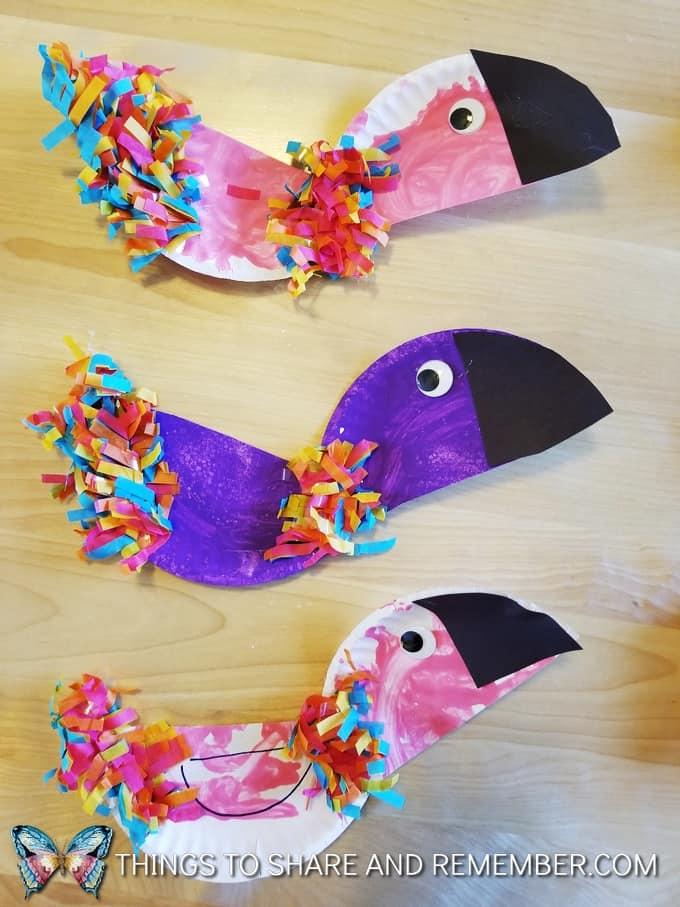 Colorful Rainforest Paper Plate Parrots