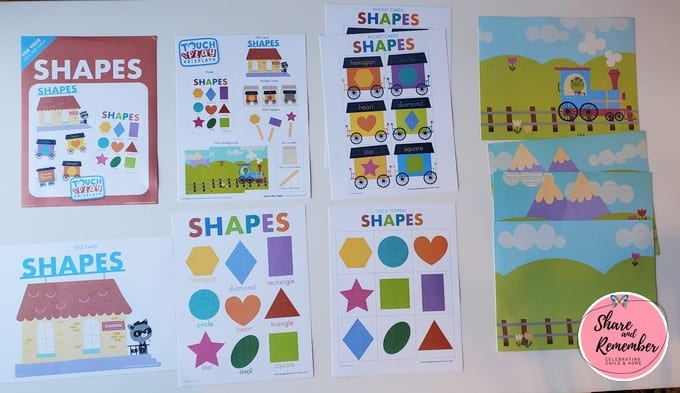 shapes Touch & Play display