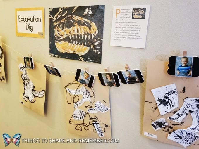 preschool art display
