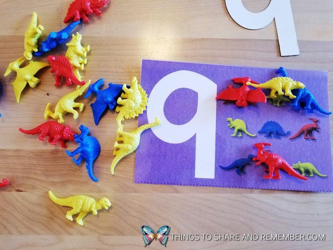 dinosaur counters manipulatives