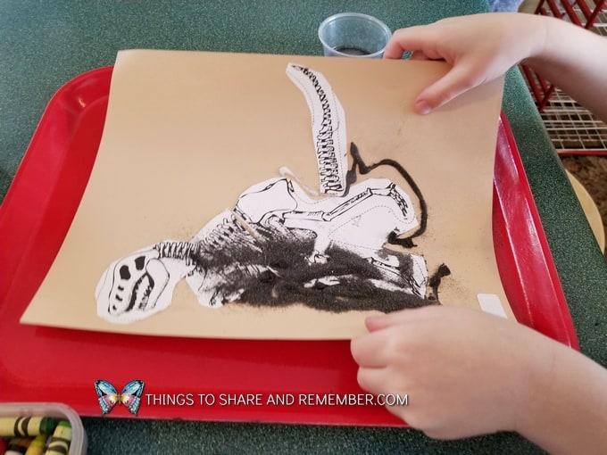 Excavation Dig dinosaur art activity