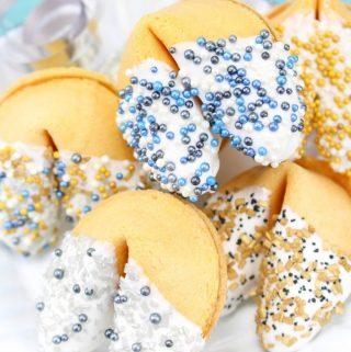 Sprinkle Dipped Fortune Cookies