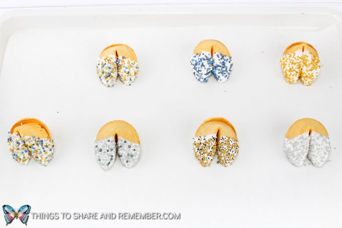 Sprinkle Dipped Fortune Cookies
