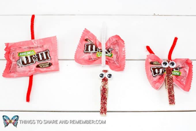 M & M Candy Love Bug Valentines assembly