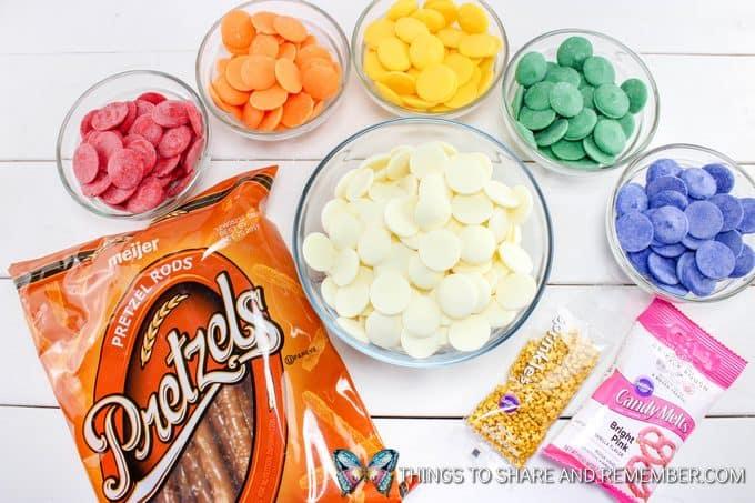 Rainbow Pretzel Sticks ingredients