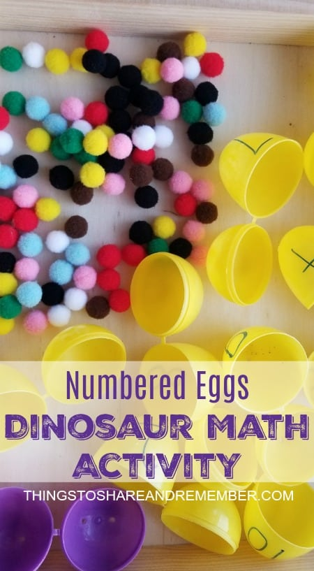 Numbered Eggs Dinosaur Math Activity