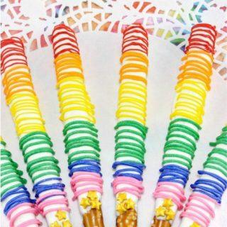 Rainbow Pretzel Rods