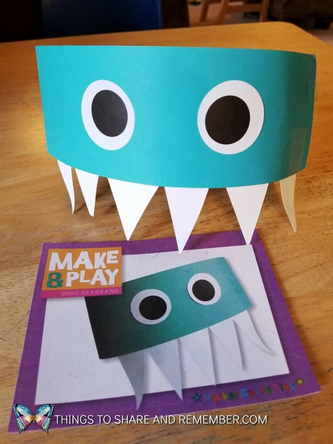 We Are The Dinosaurs dino headband Mother Goose Time project