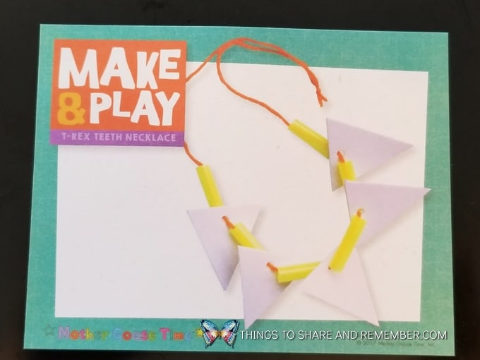 Make & Play T-Rex Teeth Necklace We Are The Dinosaurs