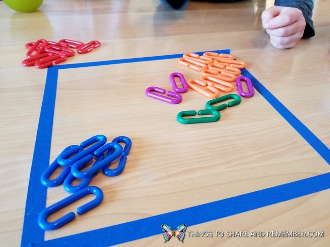 Searching For Bones Dinosaur Themed Tabletop Math Activity