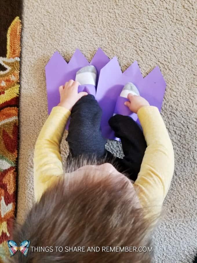 We Are The Dinosaurs dinosaur feet