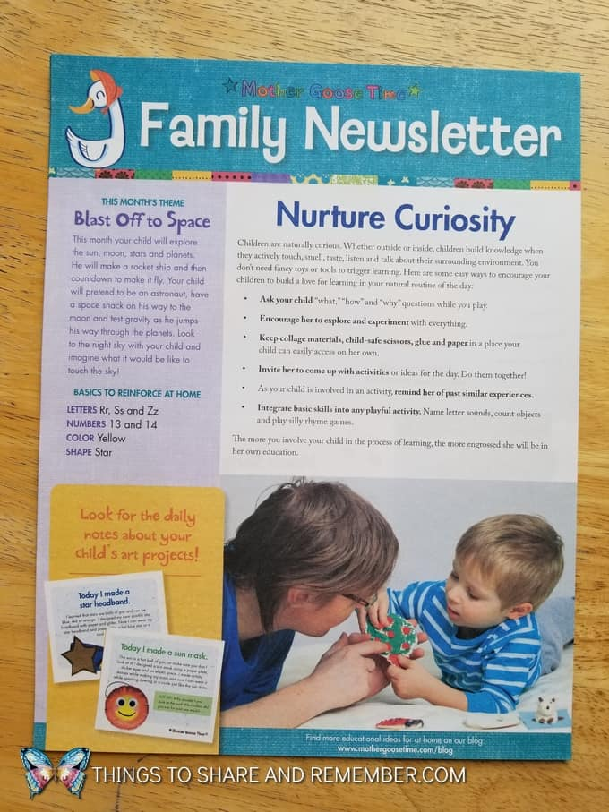 Mother Goose Time Family Newsletter