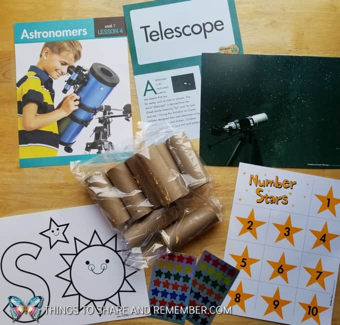 astronomers telescope preschool activities