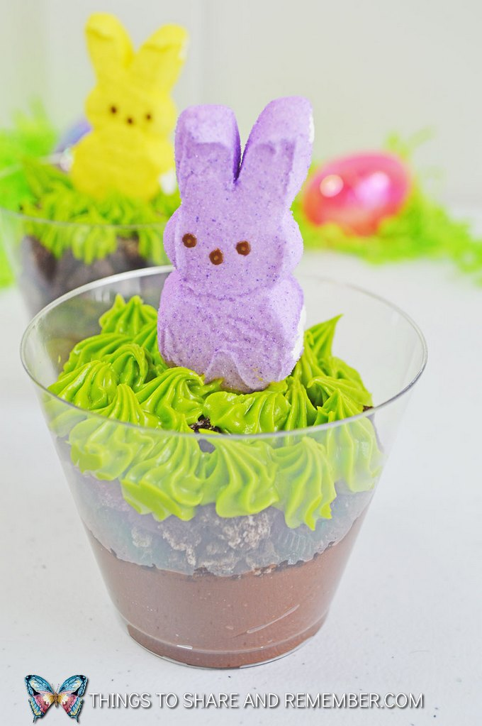 Peeps Marshmallow Bunnies Pudding Cups