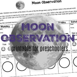 Engage Families with a Moon Observation Printable for Preschoolers