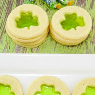 Shamrock Stained Glass Cookies with Jolly Ranchers