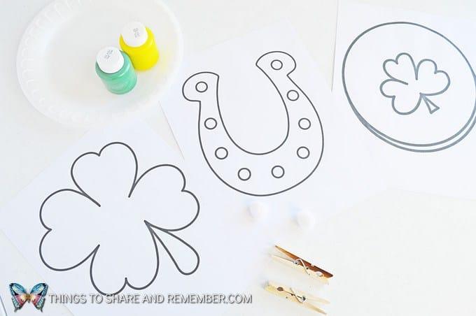 St. Patrick's Day Pom Pom Painting