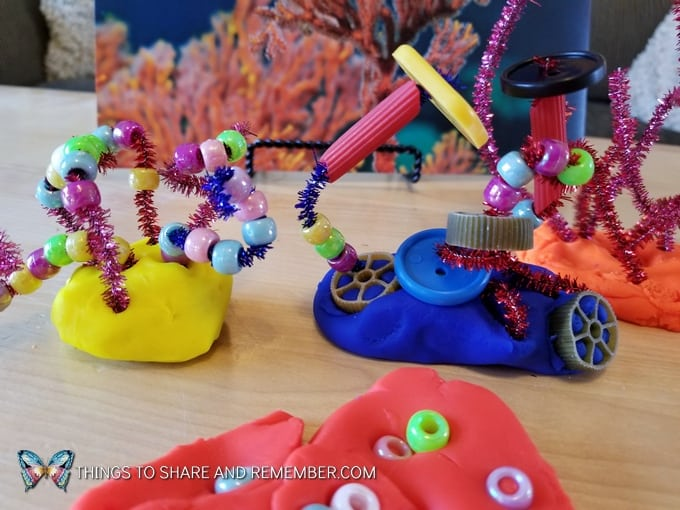 Coral Collages and STEAM Station