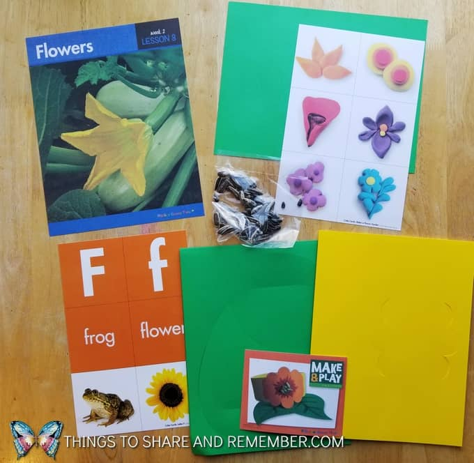 What's in the Box? Growing Gardens Preschool Theme flowers